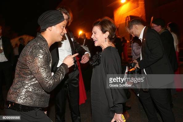 Julian FM Stoeckel and Hannelore Elsner during the 70th anniversary of Arthur Brauner's CCC Film Studios on September 23 2016 in Berlin Germany