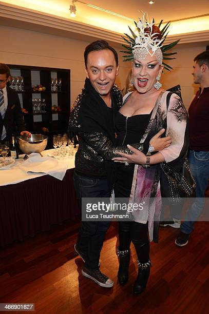 Julian FM Stoeckel and Jean Rogers attend Askania Award 2014 at Kempinski Hotel Bristol on February 4 2014 in Berlin Germany