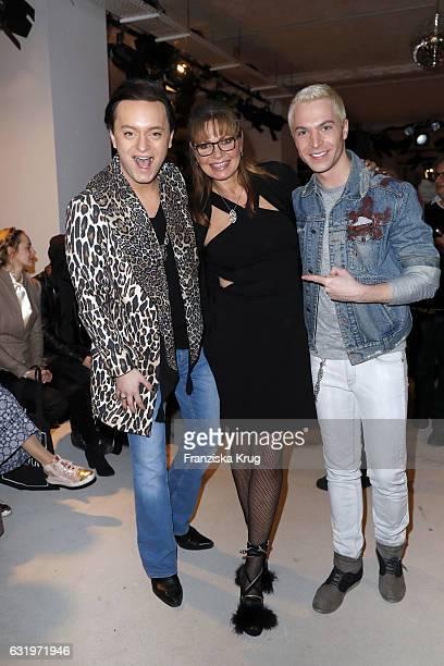 Julian FM Stoeckel Maren Gilzer and Julian David attend the Rebekka Ruetz show during the MercedesBenz Fashion Week Berlin A/W 2017 at Kaufhaus...