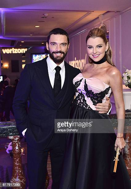 Julian Gil and Marjorie de Sousa attend the The Paley Center for Media's Hollywood Tribute to Hispanic Achievements in Television at the Beverly...