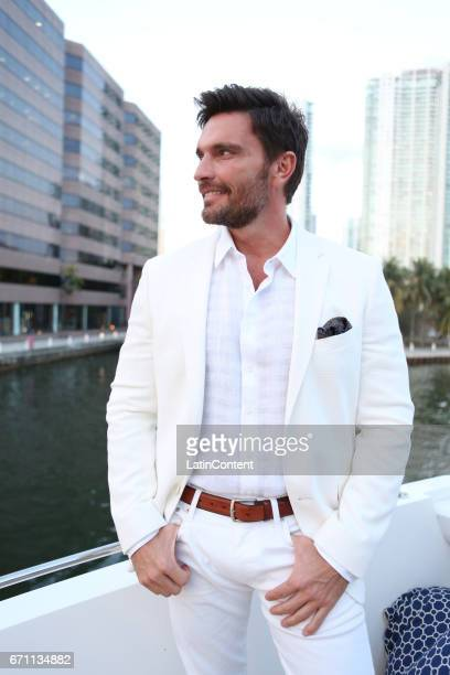 Julian Gil poses at River Yatch Club during the US launch of Carson Life on April 20 2017 in Miami Us