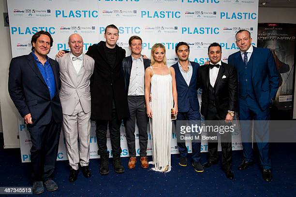 Julian Gilbey Chris Howard Will Poulter Ed Speleers Emma Rigby Sebastian de Souza Saqib Ahmed and Terry Stone attend the UK Premiere of 'Plastic' at...