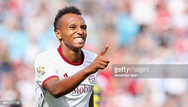 Julian Green of Bayern Muenchen celebrates his first goal during the International Champions Cup match between FC Internazionale and FC Bayern...