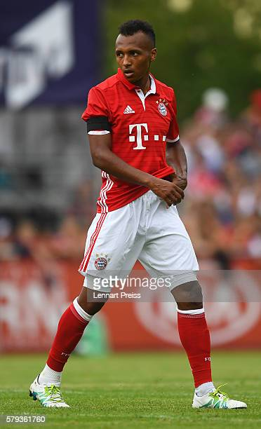 Julian Green of Bayern Muenchen looks on during the preseason friendly match between SpVgg Landshut and FC Bayern Muenchen at ebmPapst Stadion on...