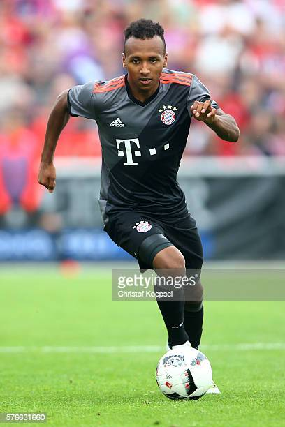 Julian Green of Bayern Muenchen runs with the ball during the friendly match between SV Lippstadt and FC Bayern at Stadion am Bruchbaum on July 16...