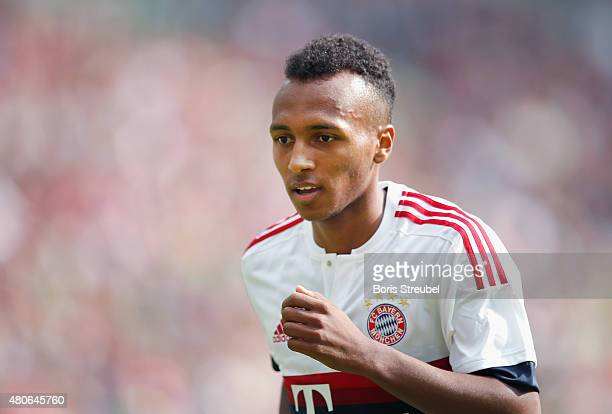 Julian Green of Bayern runs during the Telekom Cup 2015 third place match between Borussia Moenchengladbach and FC Bayern Muenchen at BorussiaPark on...