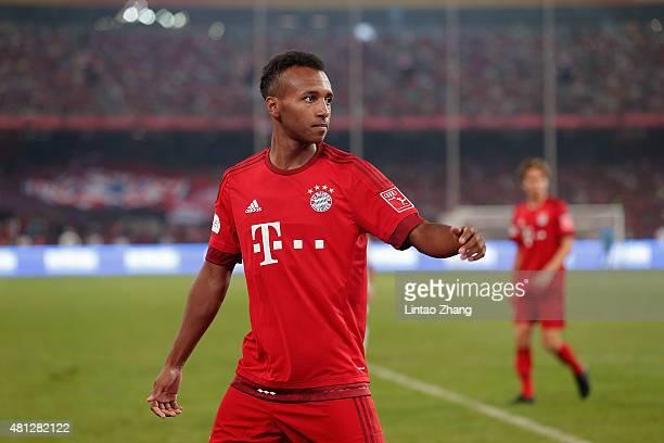 Julian Green of FC Bayern Muenchen gestures during the international friendly match between FC Bayern Muenchen and Valencia FC during the Audi...