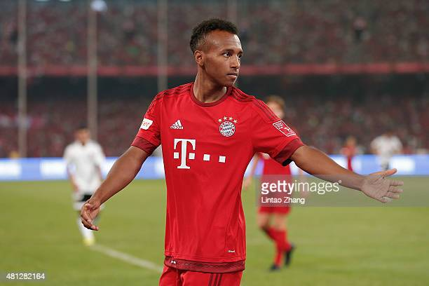 Julian Green of FC Bayern Muenchen gestures during the international friendly match between FC Bayern Muenchen and Valencia FC during the Audi...