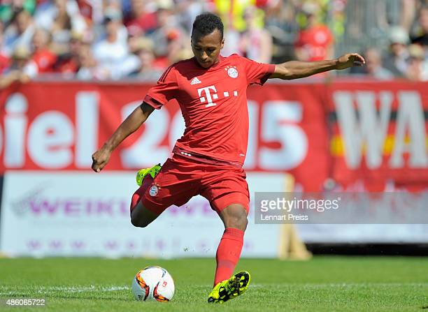 Julian Green of FC Bayern Muenchen in action during a friendly match between Fanclub Red Power and FC Bayern Muenchen on August 30 2015 in Deggendorf...