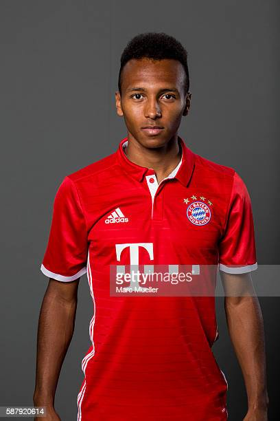 Julian Green of FC Bayern Munich pose during the team presentation on August 10 2016 in Munich Germany