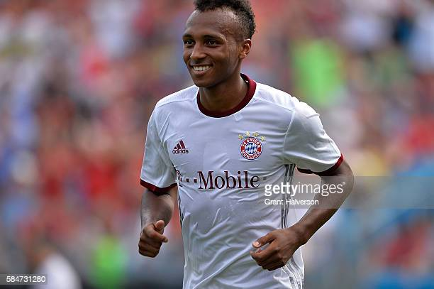 Julian Green of FC Bayern Munich smiles after scoring the last of his three goals against FC Internazionale during an International Champions Cup...