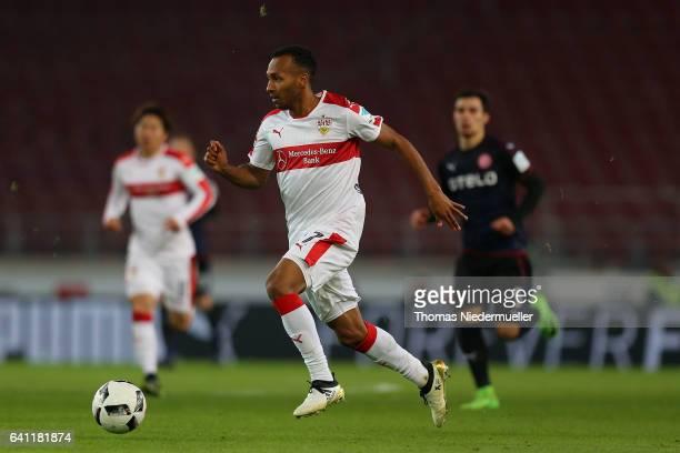 Julian Green of Stuttgart runs with the ball during the Second Bundesliga match between VfB Stuttgart and Fortuna Duesseldorf at MercedesBenz Arena...