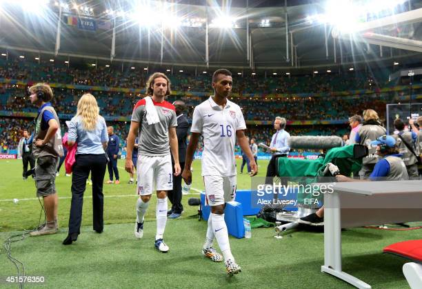 Julian Green of the United States walks off the pitch after the 12 defeat in the 2014 FIFA World Cup Brazil Round of 16 match between Belgium and USA...