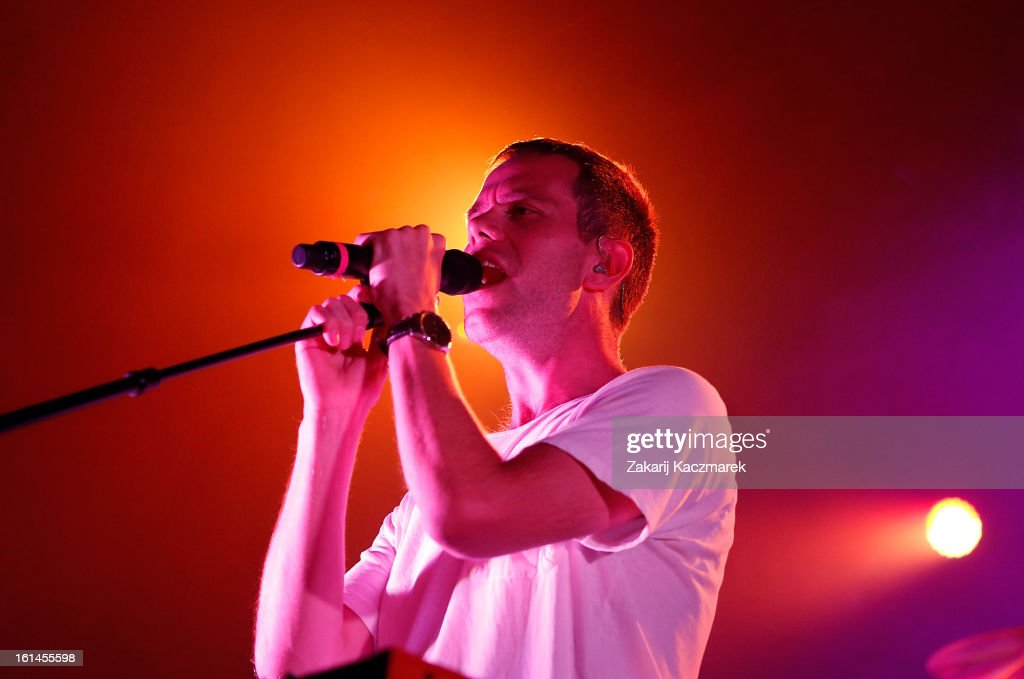 Julian Hamilton of The Presets performs live at Enmore Theatre on February 11 2013 in Sydney Australia