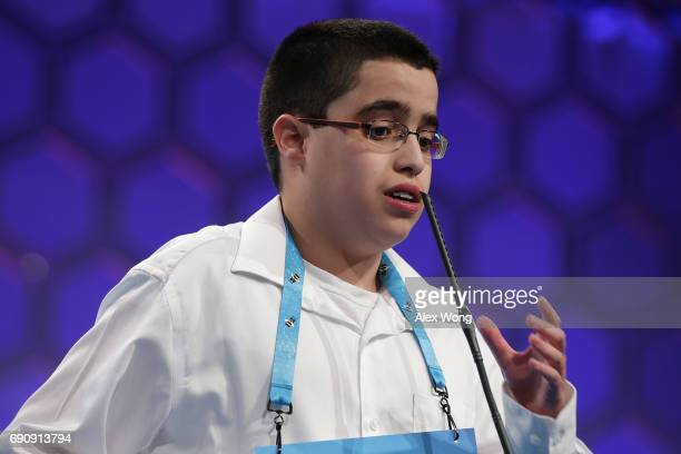 Julian Joseph Connaughton of Shohola Pennsylvania spells his word during round two of 2017 Scripps National Spelling Bee at Gaylord National Resort...