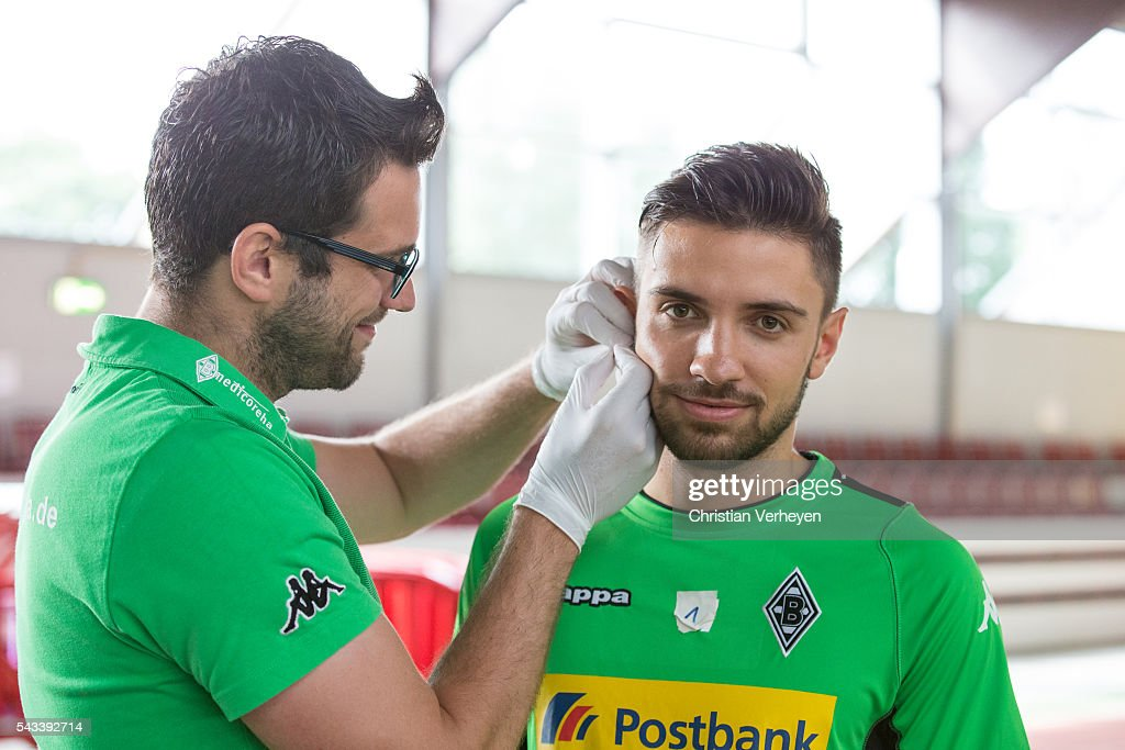 Julian Korb of Borussia Moenchengladbach during a Lactate Test in Duesseldorf on June 28, 2016 in Moenchengladbach, Germany.