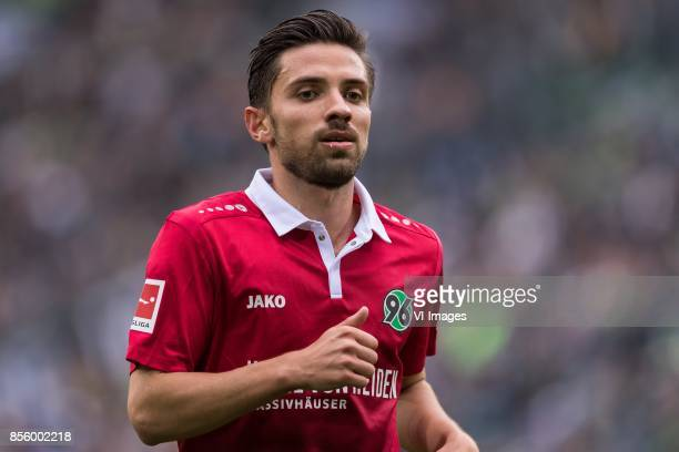 Julian Korb of Hannover 96 during the Bundesliga match between Borussia Monchengladbach and Hannover 96 at BorussiaPark on September 30 2017 in...