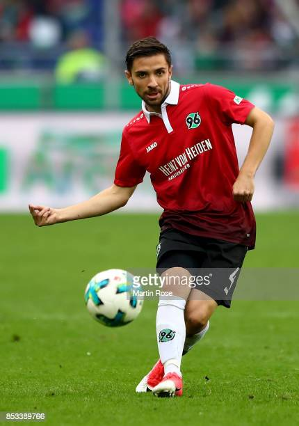 Julian Korb of Hannover runs with the ball during the Bundesliga match between Hannover 96 and 1 FC Koeln at HDIArena on September 24 2017 in Hanover...