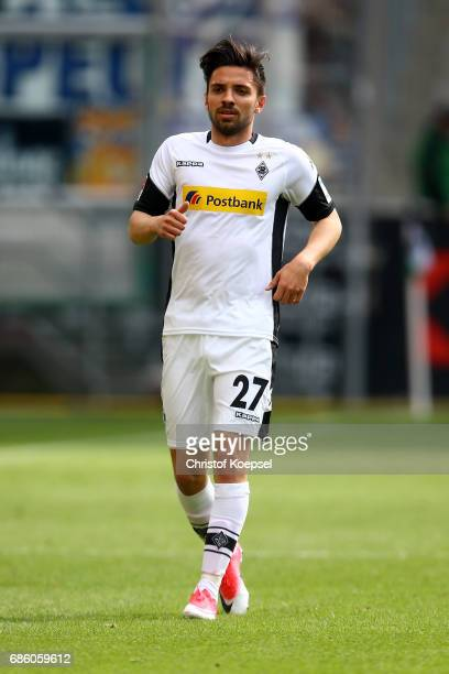 Julian Korb of Moenchengladbach is seen during the Bundesliga match between Borussia Moenchengladbach and SV Darmstadt 98 at BorussiaPark on May 20...