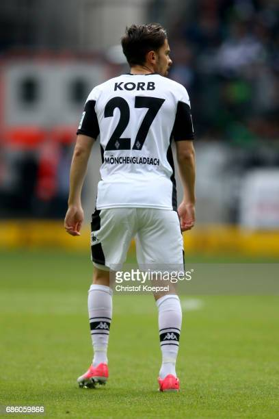 Julian Korb of Moenchengladbach looks on during the Bundesliga match between Borussia Moenchengladbach and SV Darmstadt 98 at BorussiaPark on May 20...