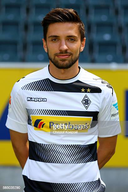 Julian Korb of Moenchengladbach poses during the team presentation of Borussia Moenchengladbach at BorussiaPark on August 1 2016 in Moenchengladbach...
