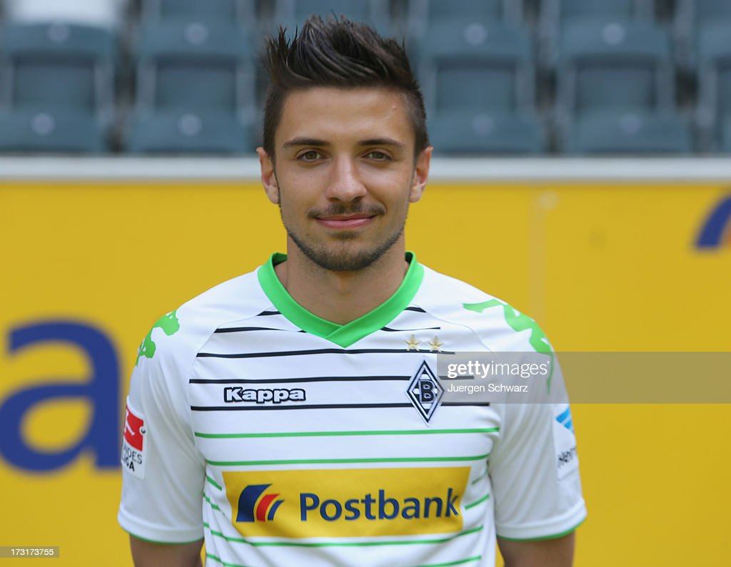 Julian Korb poses during the team presentation of Borussia Moenchengladbach on July 9, 2013 in Moenchengladbach, Germany.