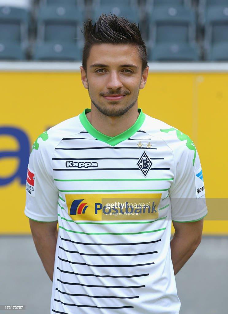Julian Korb poses during the team presentation of Borussia Moenchengladbach on July 9, 2013 in Moenchengladbach, Germany.