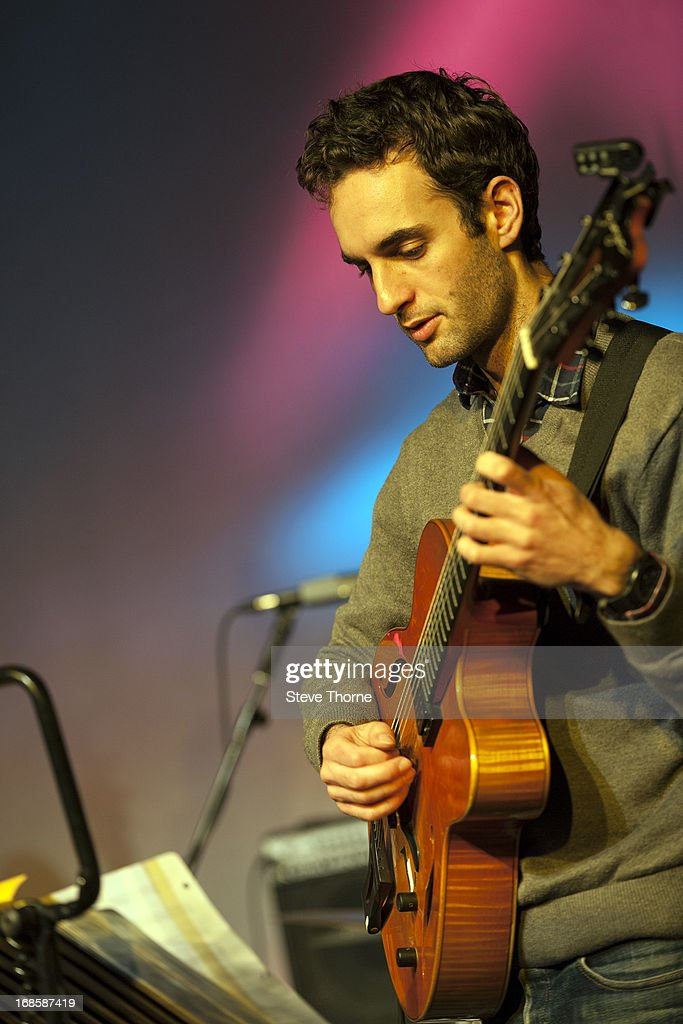 Julian Lage performs with The New Gary Burton Quartet on stage on Day 5 of Cheltenham Jazz Festival on May 5, 2013 in Cheltenham, England.