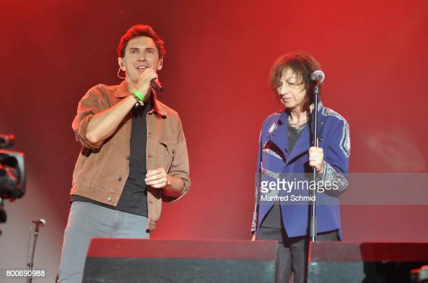 Julian le Play and Gianna Nannini perform on stage a 'Falco Tribute' during the Day 2 at Donauinselfest 2017 at Donauinsel on June 24 2017 in Vienna...