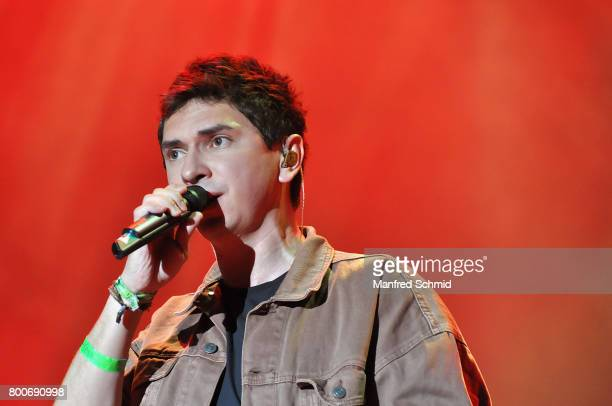 Julian le Play performs on stage a 'Falco Tribute' during the Day 2 at Donauinselfest 2017 at Donauinsel on June 24 2017 in Vienna Austria