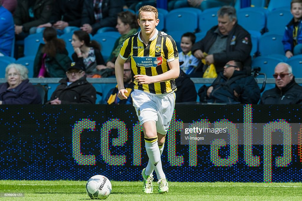 Julian Lelieveld of Vitesse during the Dutch Eredivisie match between Vitesse Arnhem and FC Utrecht at Gelredome on May 01, 2016 in Arnhem, The Netherlands