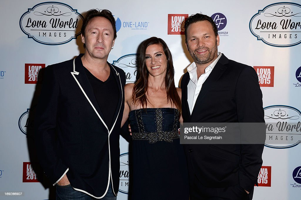 <a gi-track='captionPersonalityLinkClicked' href=/galleries/search?phrase=Julian+Lennon&family=editorial&specificpeople=211480 ng-click='$event.stopPropagation()'>Julian Lennon</a> (L) and Lucie Laurier (C) attend the Lova World Images Closing Party during the 66th Annual Cannes Film Festival at Baoli Beach on May 22, 2013 in Cannes, France.