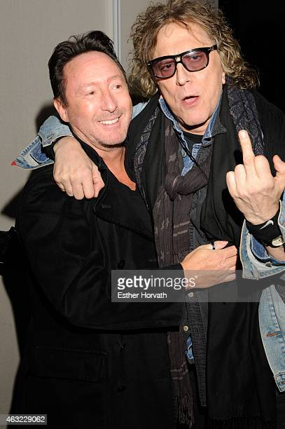 Julian Lennon and Mick Rock attend 'The Rockstar Remedy' Book Release Party at Martha Washington Hotel Ballroom on February 11 2015 in New York City