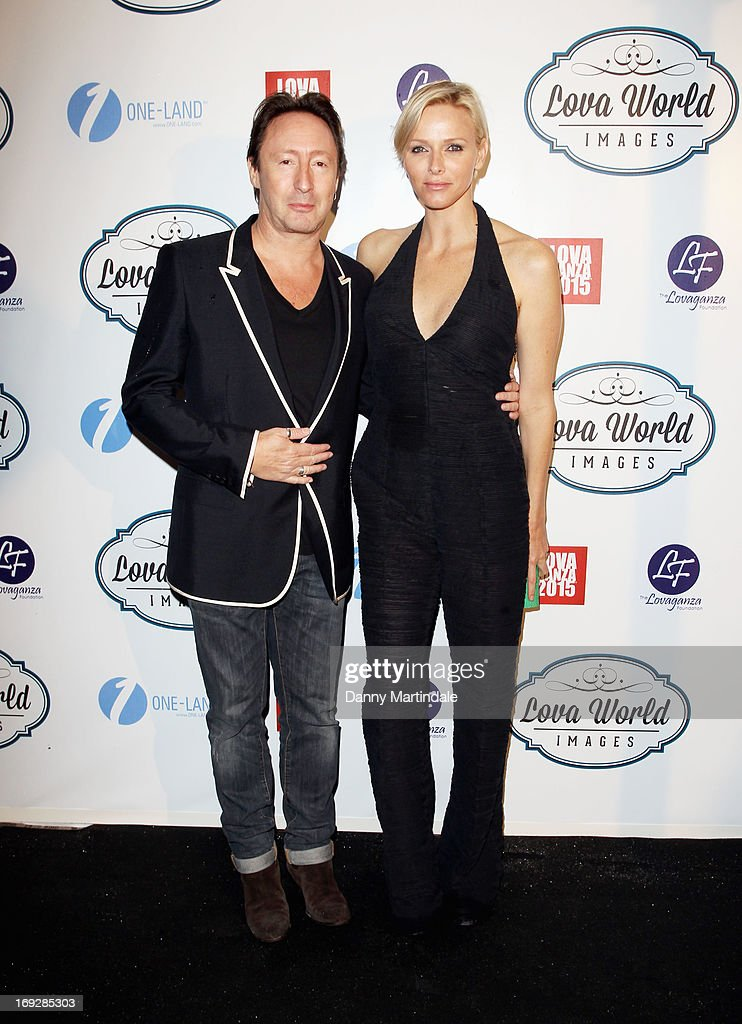 <a gi-track='captionPersonalityLinkClicked' href=/galleries/search?phrase=Julian+Lennon&family=editorial&specificpeople=211480 ng-click='$event.stopPropagation()'>Julian Lennon</a> and Princess <a gi-track='captionPersonalityLinkClicked' href=/galleries/search?phrase=Charlene+-+Princess+of+Monaco&family=editorial&specificpeople=726115 ng-click='$event.stopPropagation()'>Charlene</a> of Monaco attend Lova World Images party during the 66th Annual Cannes Film Festival at Baoli Beach on May 22, 2013 in Cannes, France.