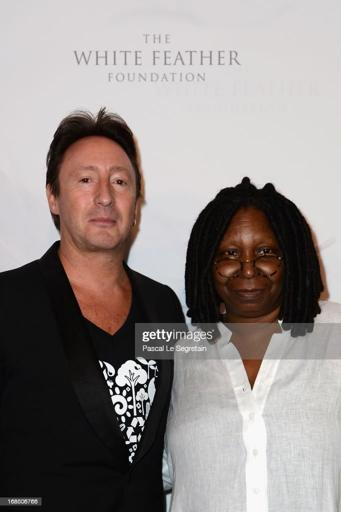 <a gi-track='captionPersonalityLinkClicked' href=/galleries/search?phrase=Julian+Lennon&family=editorial&specificpeople=211480 ng-click='$event.stopPropagation()'>Julian Lennon</a> and <a gi-track='captionPersonalityLinkClicked' href=/galleries/search?phrase=Whoopi+Goldberg&family=editorial&specificpeople=202463 ng-click='$event.stopPropagation()'>Whoopi Goldberg</a> arrive at The White Feather Foundation Charity Ball 2013 at Ballet De Monte Carlo on May 10, 2013 in Monaco, Monaco. The event raises funds for <a gi-track='captionPersonalityLinkClicked' href=/galleries/search?phrase=Julian+Lennon&family=editorial&specificpeople=211480 ng-click='$event.stopPropagation()'>Julian Lennon</a>'s charity 'The White Feather Foundation' which aims to give a voice and support to those who cannot be heard, aids, ongoing humanitarian and environmental projects, with an emphasis on water projects in 2013.