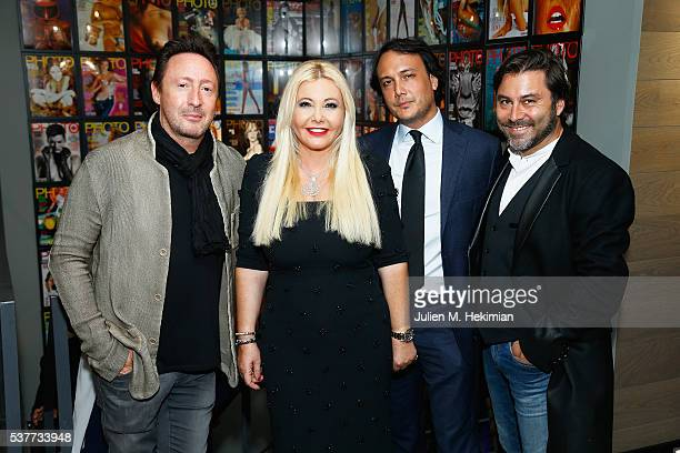 Julian Lennon Monika Bacardi David Swaelens Kane and Stephane Cohen attend the Opening Photo House Photo Gallery In Bruxelles With Photo Magazine on...