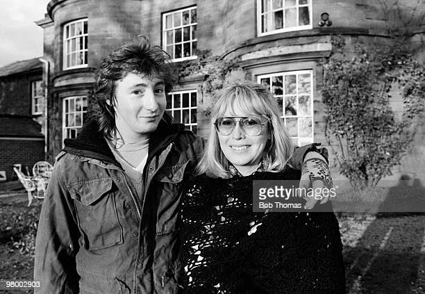 Julian Lennon son of former Beatles musician John Lennon with his mother Cynthia at their home in North Wales circa 1980