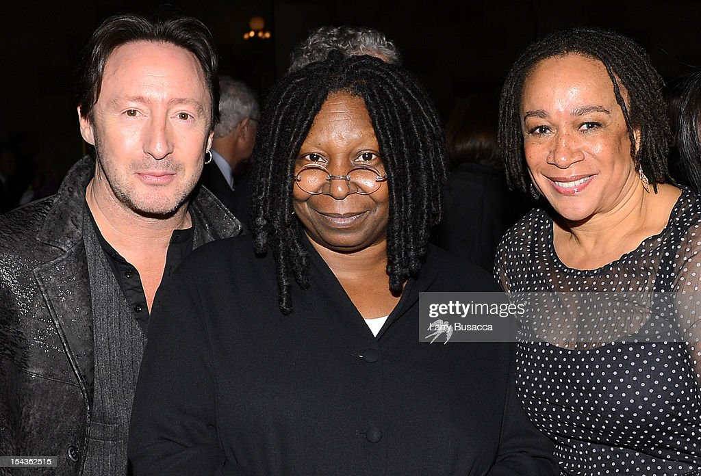 Julian Lennon, Whoopi Goldberg and Actress Epatha Merkerson attend Lupus Foundation of America Butterfly Gala 2012 at Gotham Hall on October 18, 2012 in New York City.