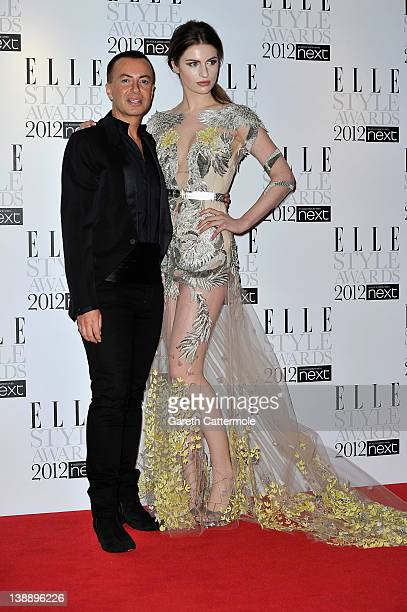 Julian MacDonald and Tali Lennox arrive for The Elle Style Awards 2012 at The Savoy Hotel on February 13 2012 in London England