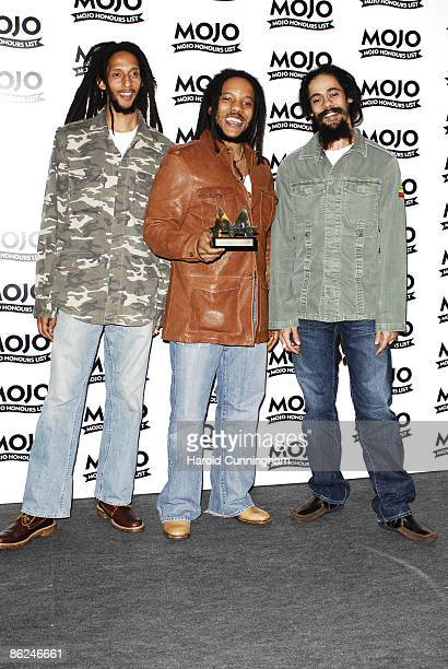 Julian Marley Stephen Marley and Damian Marley sons of Bob Marley winner MOJO Classic Album Award for 'Exodus' by Bob Marley the Wailers