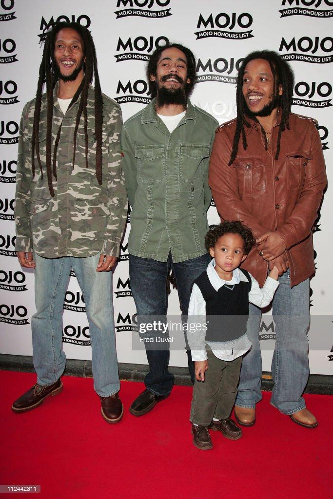 Julian Marley, Stephen Marley, Damian Marley and guest