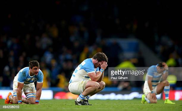 Julian Montoya of Argentina shows his dejection at the final whistle during the 2015 Rugby World Cup Semi Final match between Argentina and Australia...