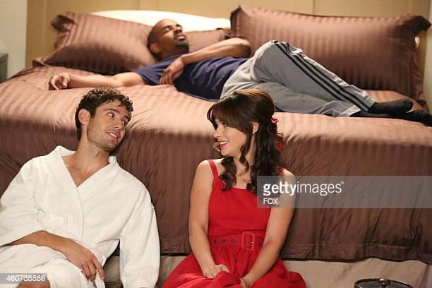 Julian Morris Damon Wayans Jr and Zooey Deschanel in the 'Teachers' episode of NEW GIRL airing Tuesday Nov 18 2014 on FOX
