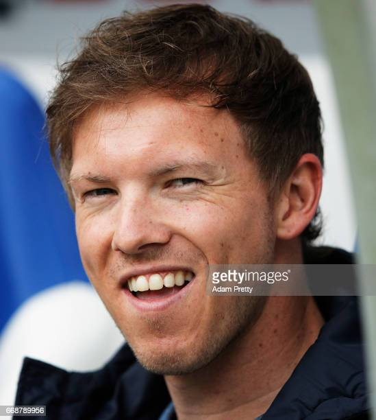 Julian Nagelsmann head coach of 1899 Hoffenheim before the Bundesliga match between TSG 1899 Hoffenheim and Borussia Moenchengladbach at Wirsol...