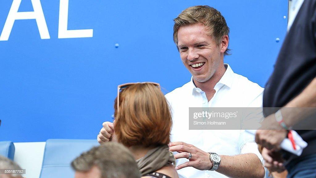 <a gi-track='captionPersonalityLinkClicked' href=/galleries/search?phrase=Julian+Nagelsmann&family=editorial&specificpeople=12889193 ng-click='$event.stopPropagation()'>Julian Nagelsmann</a>, head coach of TSG 1899 Hoffenheim, attends the A Juniors German Championship Final match between 1899 Hoffenheim U19 and Borussia Dortmund U19 at Wirsol Rhein-Neckar-Arena on May 29, 2016 in Sinsheim, Germany.