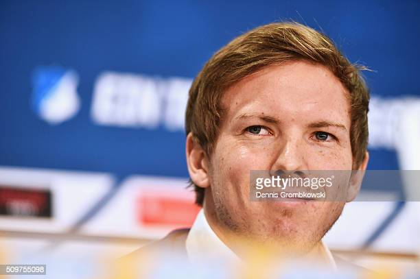 Julian Nagelsmann is presented as new head coach of TSG 1899 Hoffenheim during a press conference on February 12 2016 in Zuzenhausen Germany