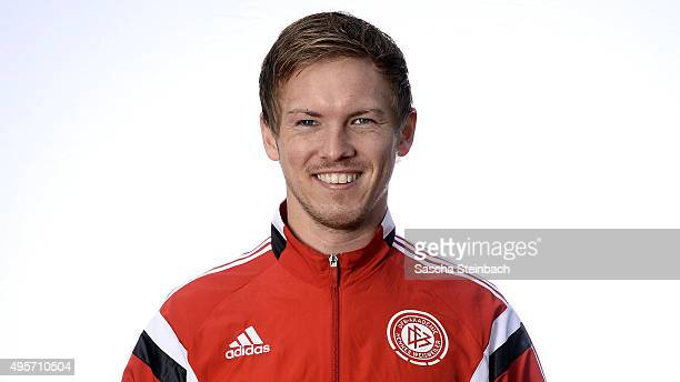 Julian Nagelsmann poses during the DFB Pro Licence Coaching Course at Sportschule Hennef on November 4 2015 in Hennef Germany