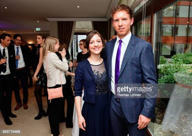 Julian Nagelsmann the head coach of TSG 1899 Hoffenheim pictured with his partner Verena at the 'Coaching Award Ceremony Closing Event UEFA Pro...