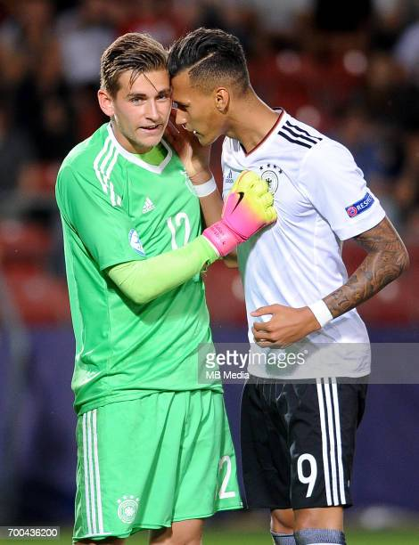 Julian Pollersbeck Davie Selke during the UEFA European Under21 match between Germany and Denmark at Cracovia Stadium on June 21 2017 in Krakow Poland
