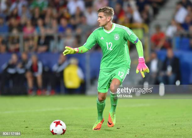 Julian Pollersbeck during the UEFA European Under21 final match between Germany and Spain on June 30 2017 in Krakow Poland